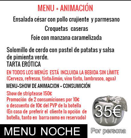 menu noche 35€